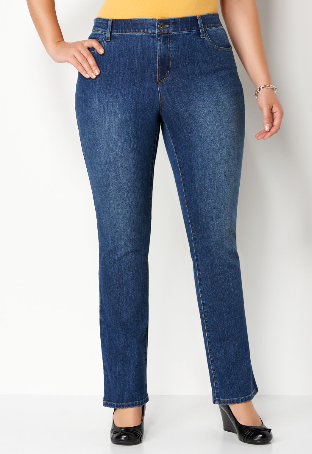 2c8381b99a7 Women s Plus Sized Everyday Denim Plus Size Pant Tall from ...