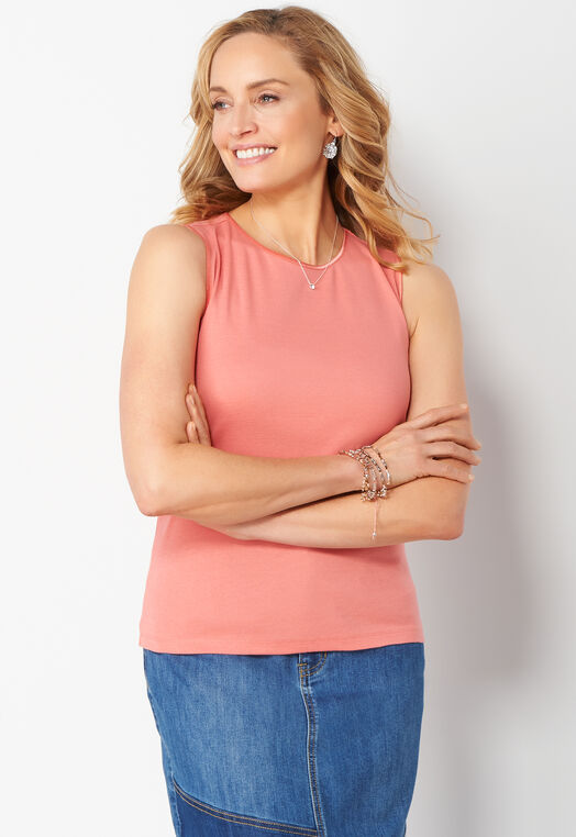 Satin Trim Petite Tank at Christopher & Banks in Charleston, WV | Tuggl