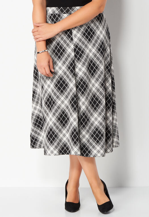 Jacquard Plaid Plus Size Skirt at Christopher & Banks in Charleston, WV | Tuggl