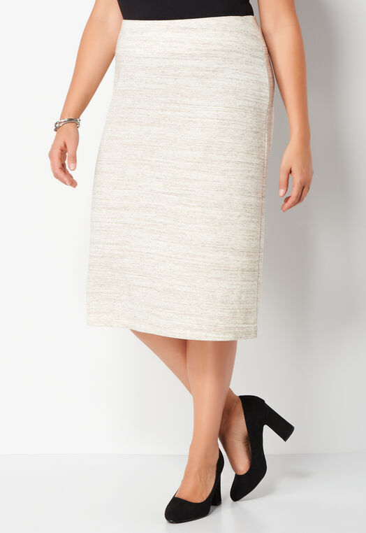Brushed Heathered Jersey Plus Size Skirt at Christopher & Banks in Charleston, WV | Tuggl