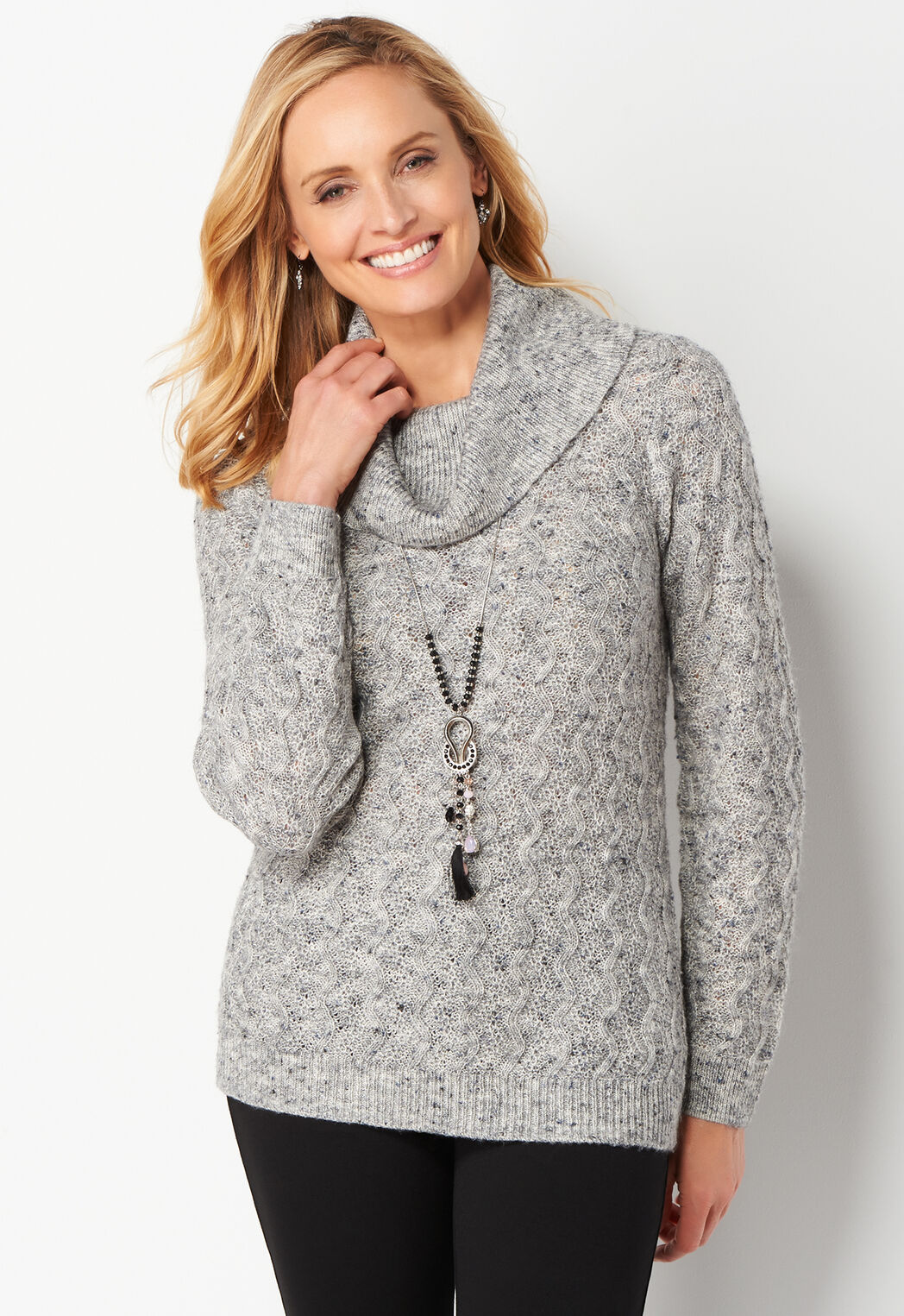 Women's Petite Cozy Cowl Pullover Petite Sweater from Christopher ...