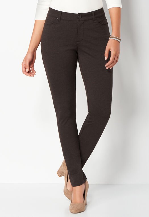 Signature Slimming Heather Ponte Pant Average at Christopher & Banks in Charleston, WV | Tuggl