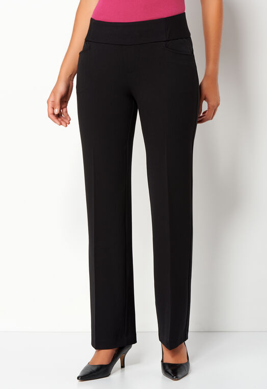 Pull-On Downtown Trouser Pant Long | Tuggl