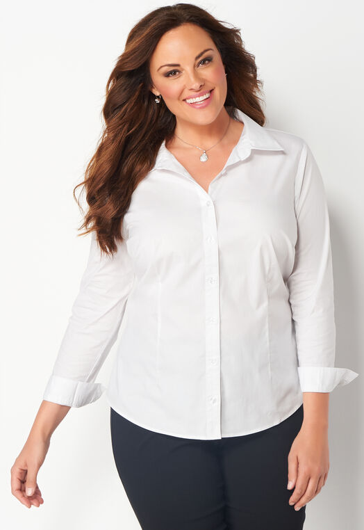 Plus Size Perfect Shirt at Christopher & Banks in Charleston, WV | Tuggl