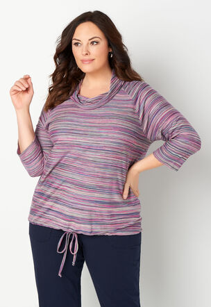 33f35912b35aa Relax Restyled Space Dye Plus Size Cowl