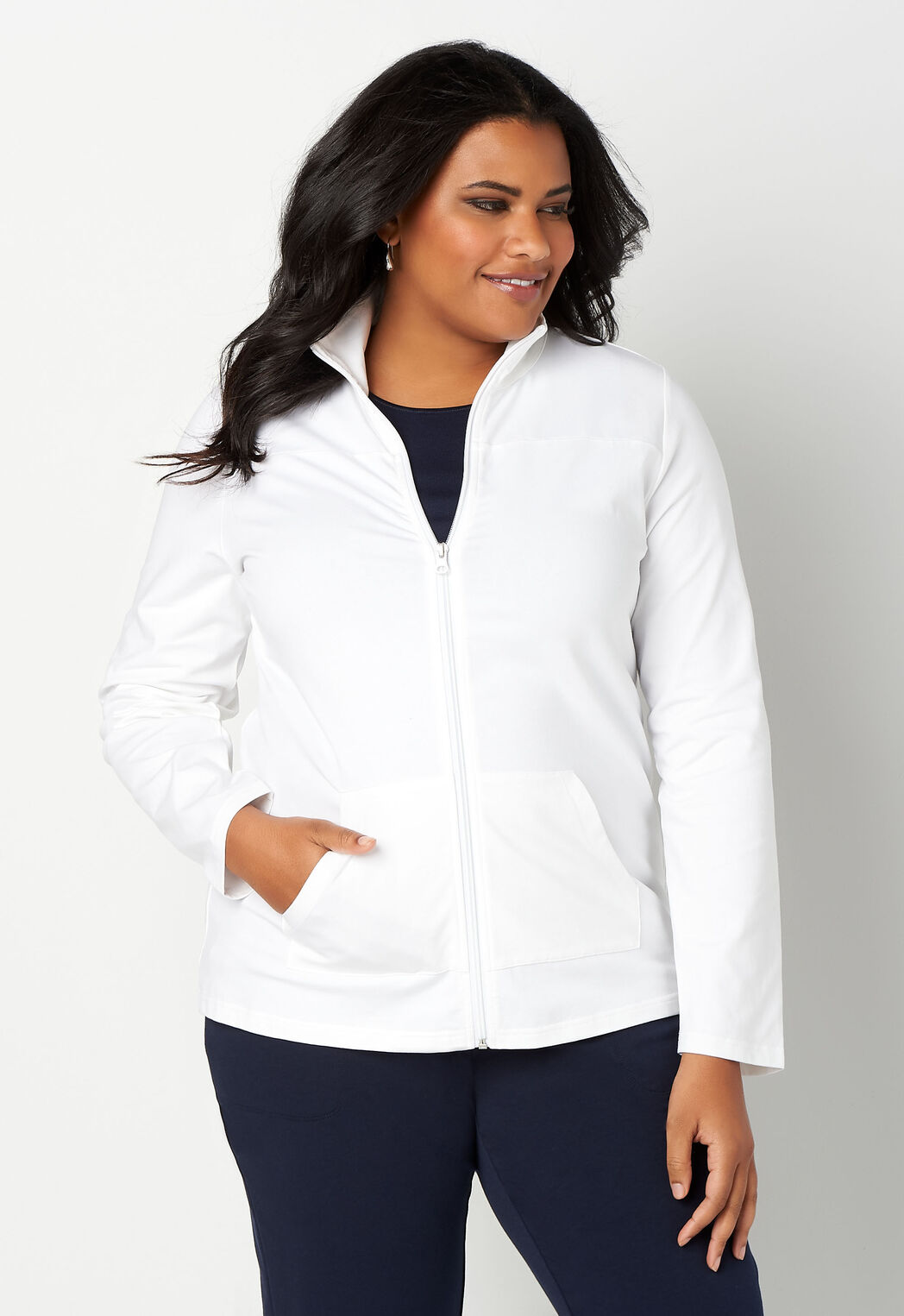 1d18930e65014e swipe to see more. Relaxed Restyled Solid Zip Up Jacket Plus Size Outfit