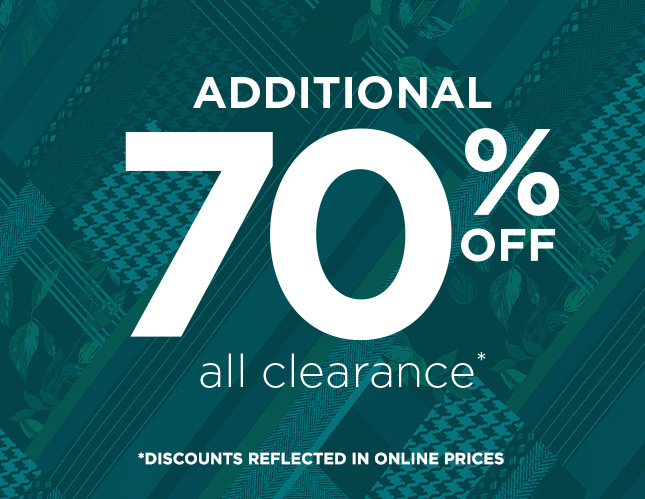 Additional 70% Off All Clearance Items!
