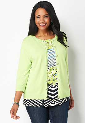 Christopher & Banks® | cj banks® - Women's Green Cardigan Sweaters