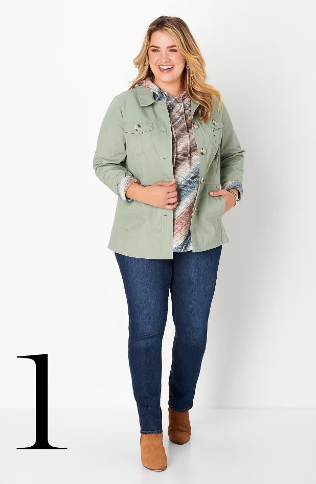 Missy/Women Collections - Ways-to-Wear, January: #01 Seamed Twill Jacket, 01