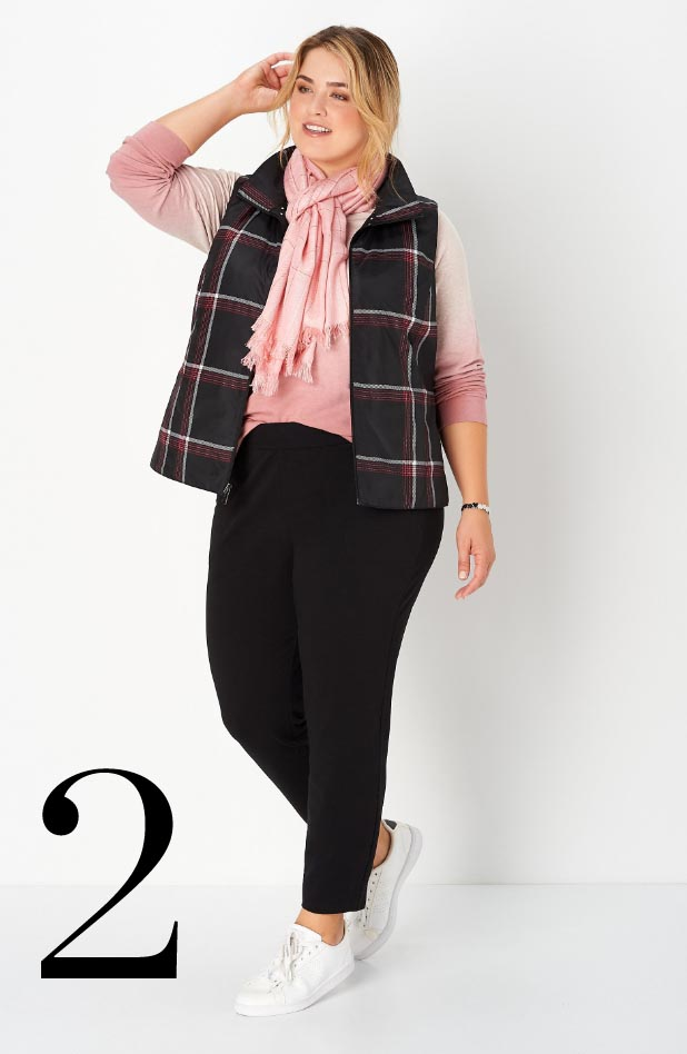 Missy/Women Collections - Ways-to-Wear, January: #03 Reversible Plaid Vest, 02