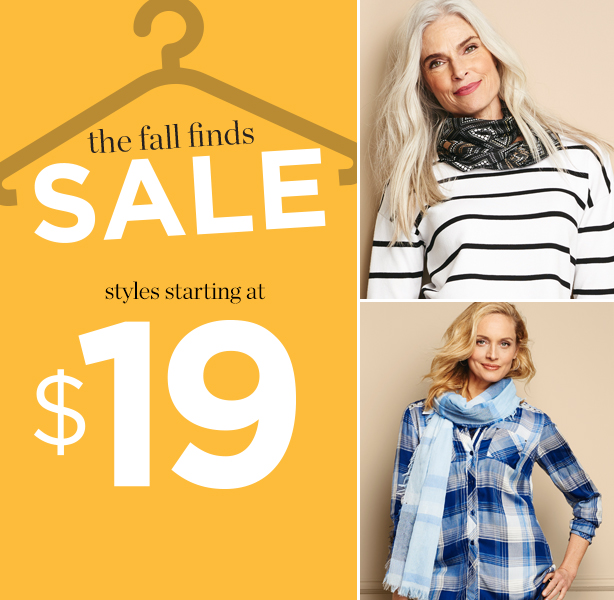 the fall finds sale - styles starting at $19