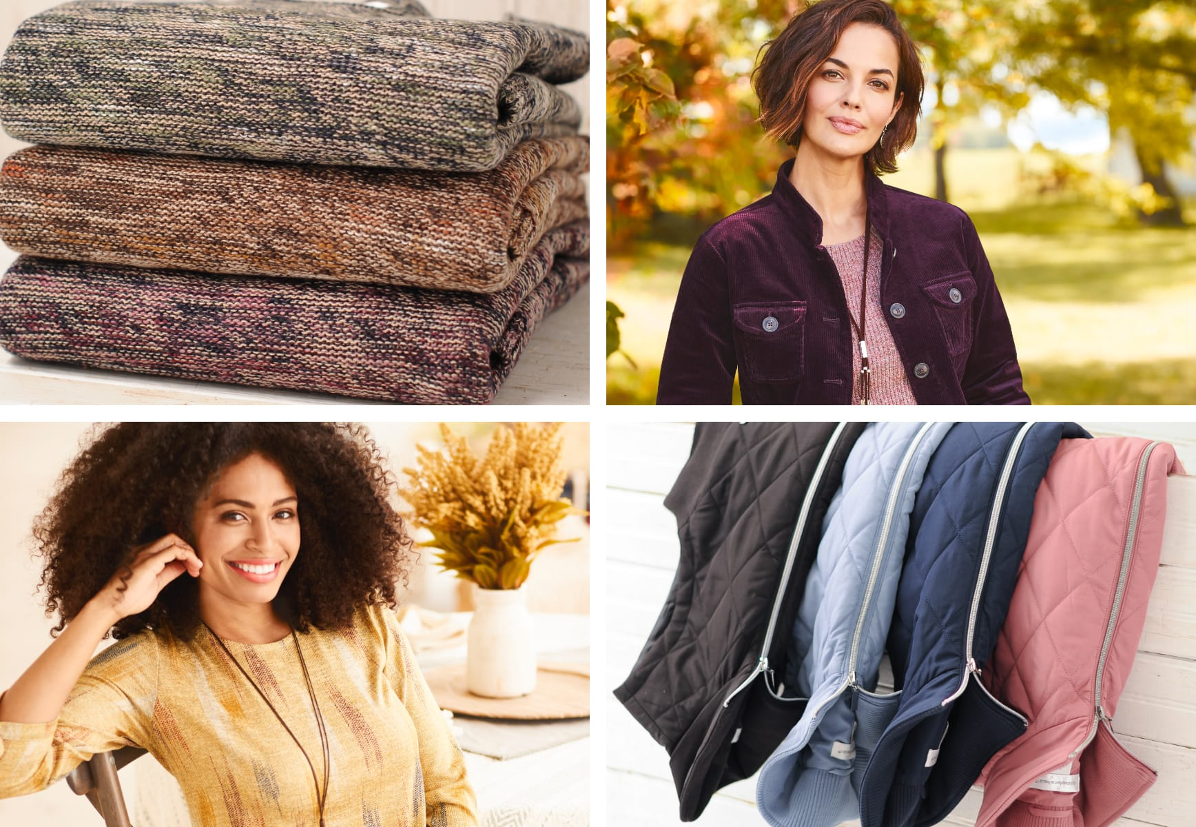 Fall Favorite Patterns, Plaids, and Fuzzy Layers