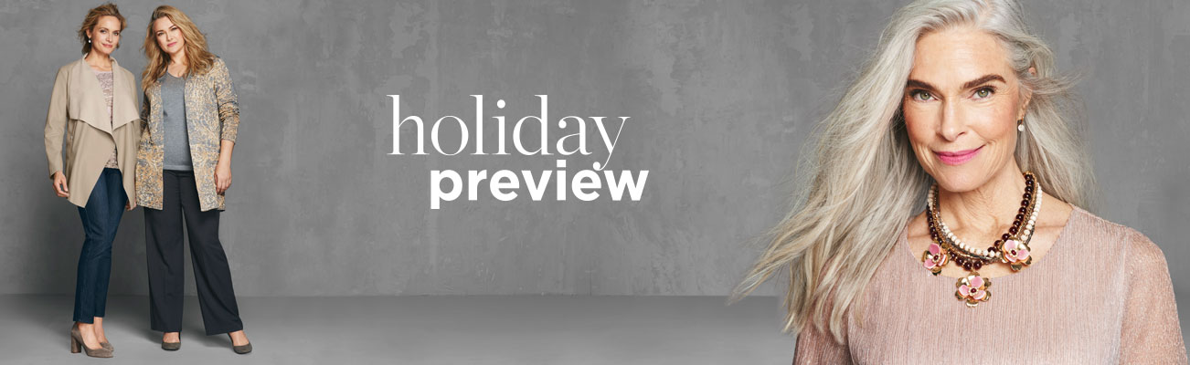 Christopher & Banks® | cj banks® Misses, Petite and Plus Size Women's Clothing Category - Holiday Preview