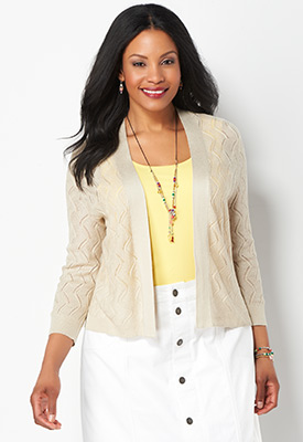 Christopher & Banks | cjbanks - Women's Brown Cardigan Sweaters