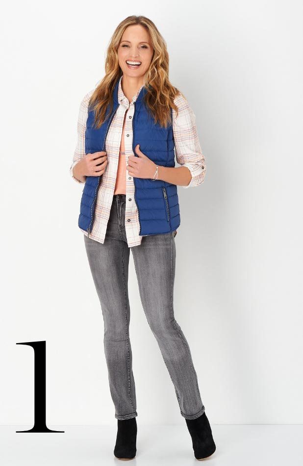Missy/Women Collections - Ways-to-Wear, January: #02 Textured Plaid Shirt, 01