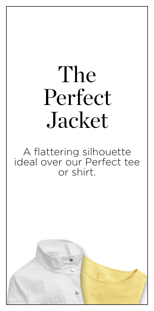 The Perfect Jacket. A flattering silhouette ideal over our Perfect tee or shirt.