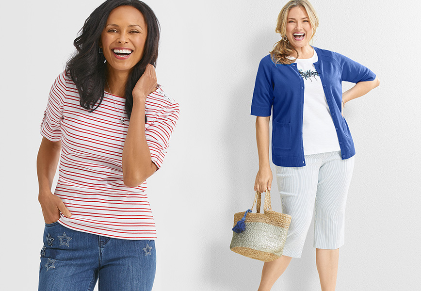 American Spirit: Look fresh and fun in one (or all) of our seasonal prints.