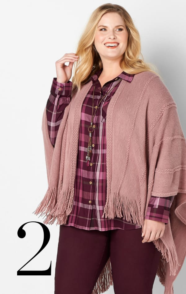 Ways-to-Wear: 2. Drapey Plaid Shirt Learn More.