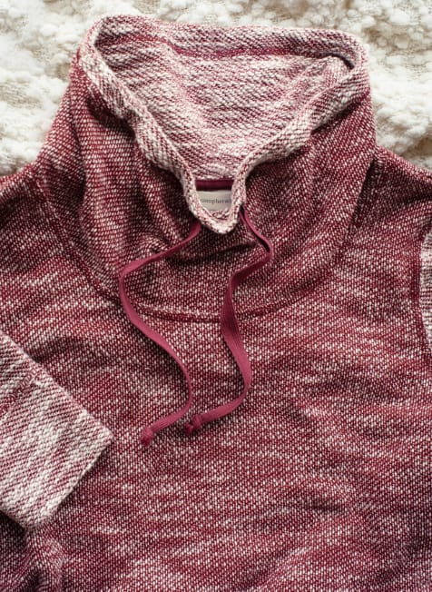 The Relaxed. Restyled.® Puffy Knit Cowl Neck Pullover.
