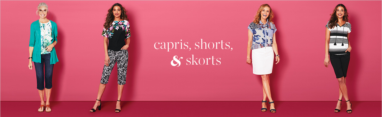 Clothing Category: Capris, Shorts, and Skorts