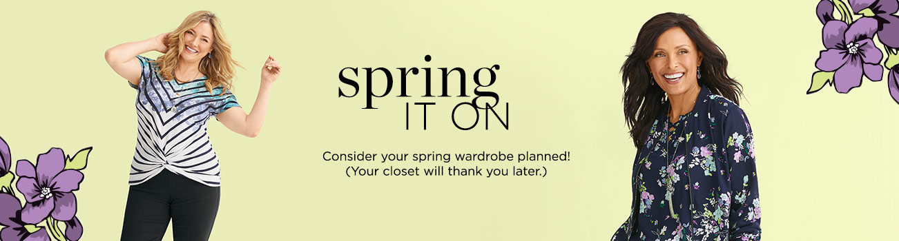 Spring It On. Consider your spring wardrobe planned! (Your closet will thank you later.)