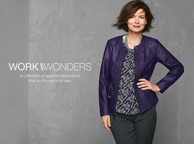 Christopher & Banks® | cj banks® Misses, Petite and Plus Size Women's Clothing Category - Work Wonders: A collection of sophisticated styles that do the work for you.