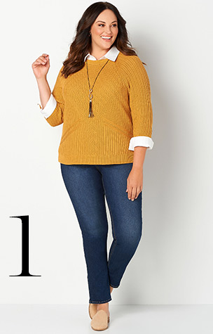 1. Ways to Wear the Tuck Stitch Pullover.