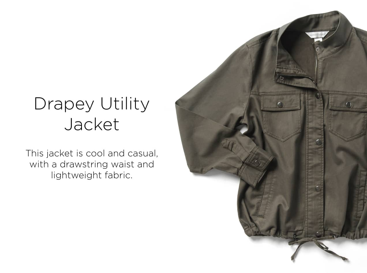 Ways-to-Wear: Drapey Utility Jacket