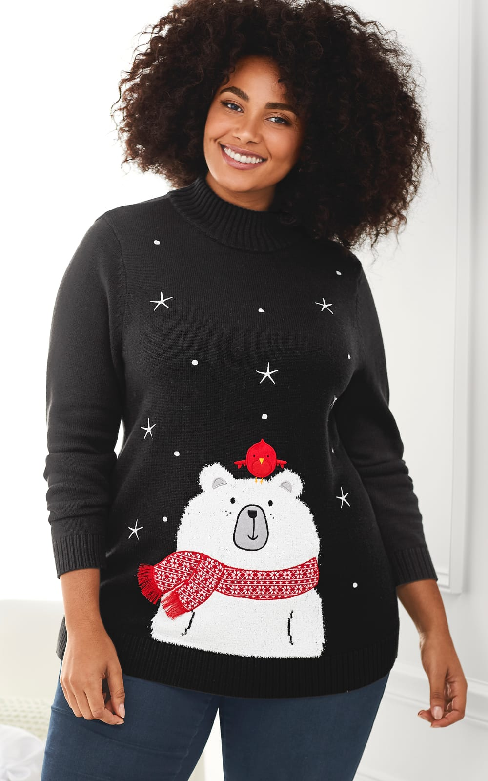 The Office Party Outfit: Featuring the Polar bear and pal pullover sweater.