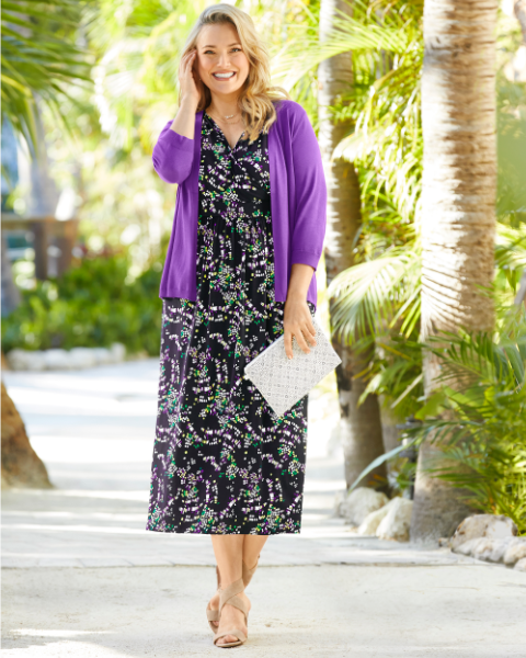 DRESSES & SKIRTS: Fanciful florals and prints set the scene for spring style that's fresh picked.