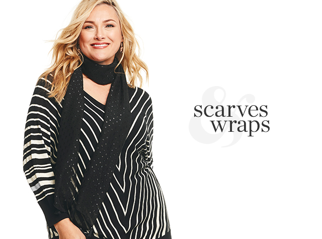Christopher & Banks® | cj banks® Misses, Petite and Plus Size Women's Clothing Category - Scarves & Wraps