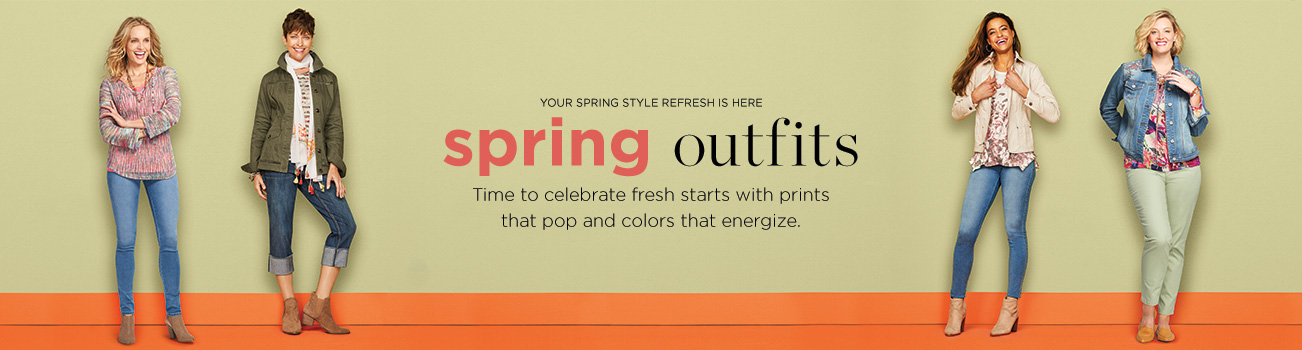 Clothing Category - Your Spring Style Refresh Is Here: Spring Outfits! Time to celebrate fresh starts with prints that pop and colors that energize.