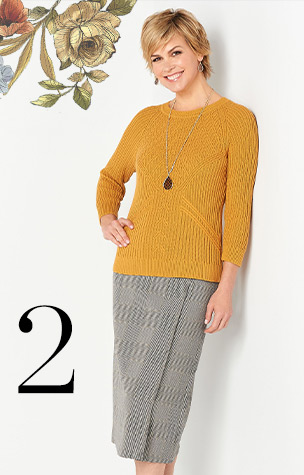 2. Ways to Wear the Tuck Stitch Pullover.