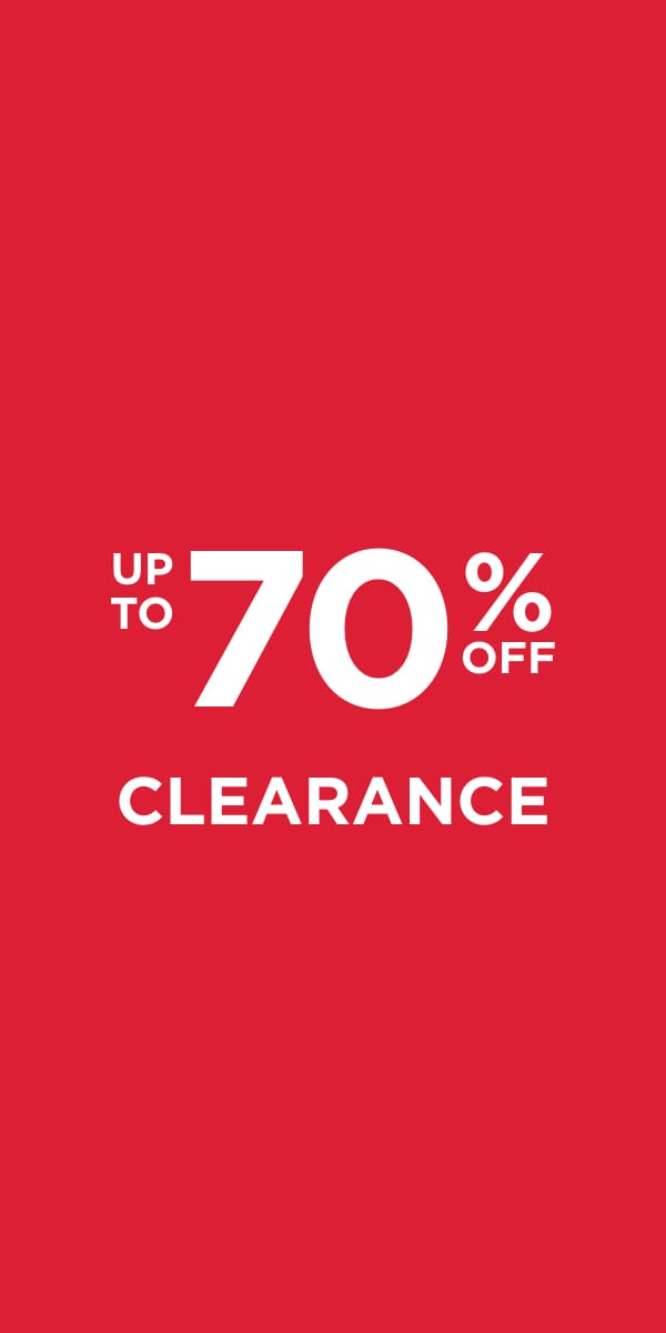 Up To 70% Off Clearance!