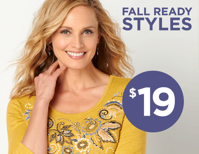 Fall-Ready Styles for $19!