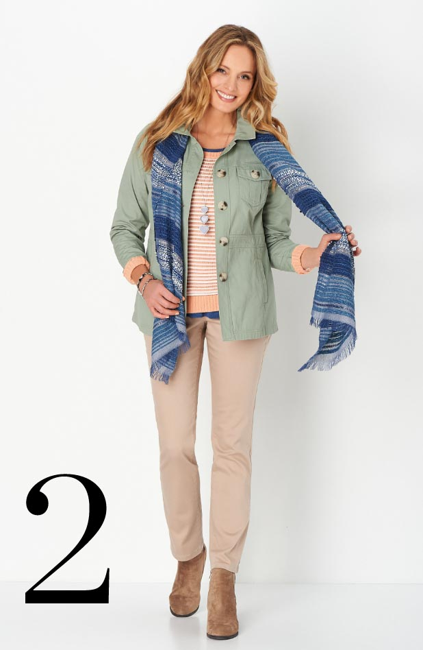 Missy/Women Collections - Ways-to-Wear, January: #01 Seamed Twill Jacket, 02