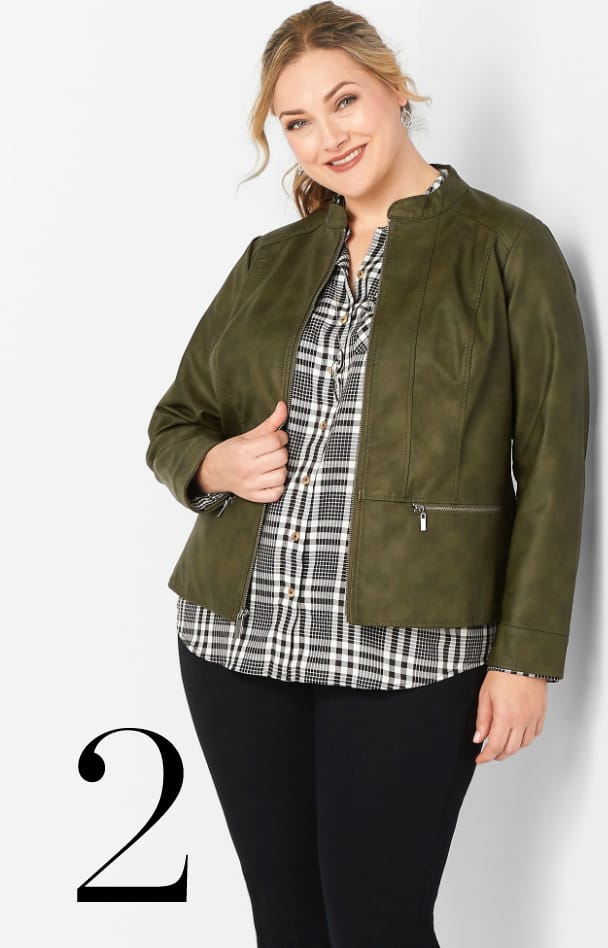 Faux Leather Jacket 2. Learn More.