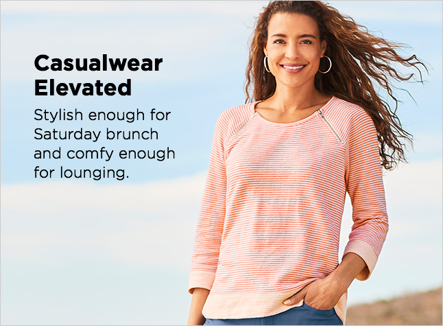 Clothing Category - Casualwear Elevated - Stylish enough for Saturday brunchand comfy enough for lounging.