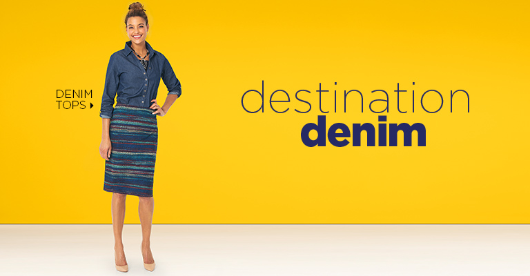 Destination Denim: Denim Tops
