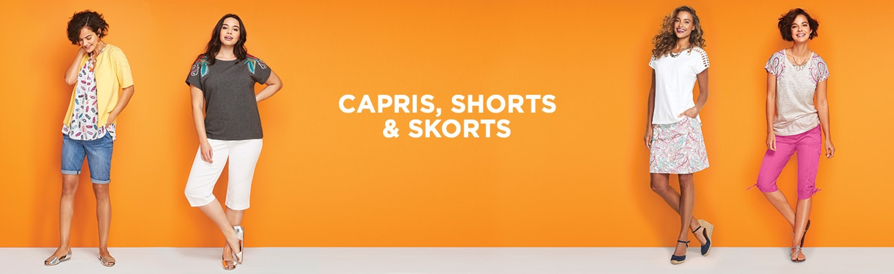 Clothing Category:  Capris, shorts and skorts