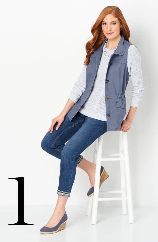 Ways-to-Wear: Solid Utility Vest #1