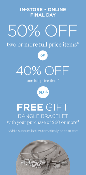 5a43bc11daea 50% Off 2+ or 40% Off 1 Full-Price