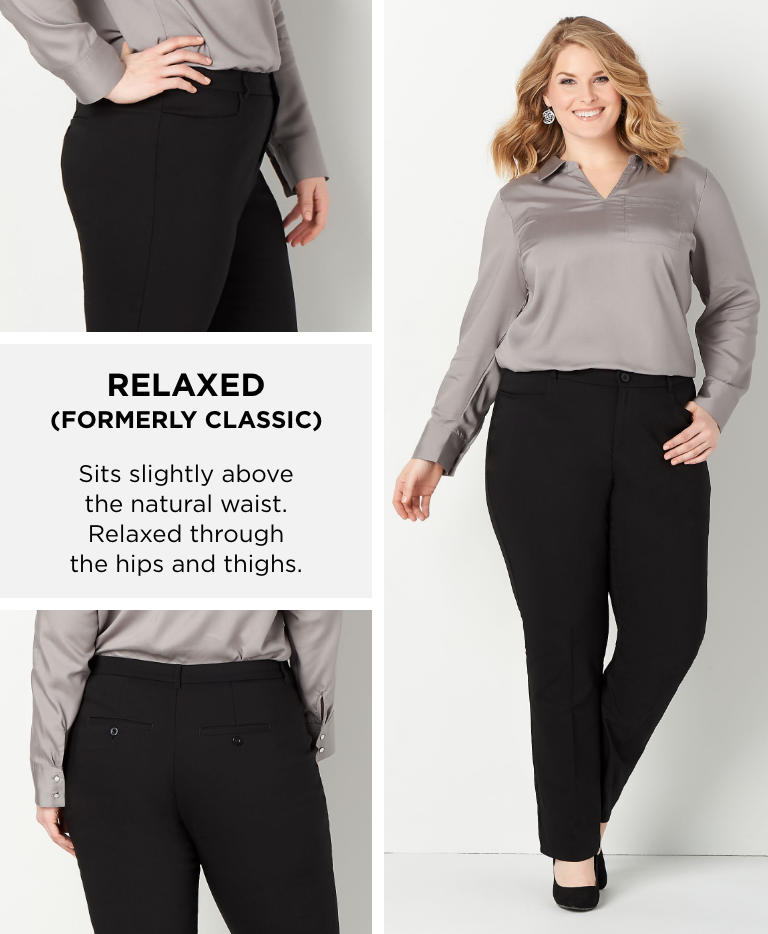 """Relaxed (Formerly """"Classic""""): Sits slightly above the natural waist. Relaxed through the hips and thighs."""