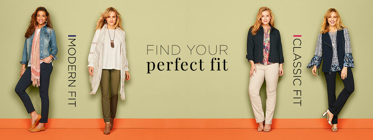 Find Your Perfect Fit: Modern Fit, Classic Fit.