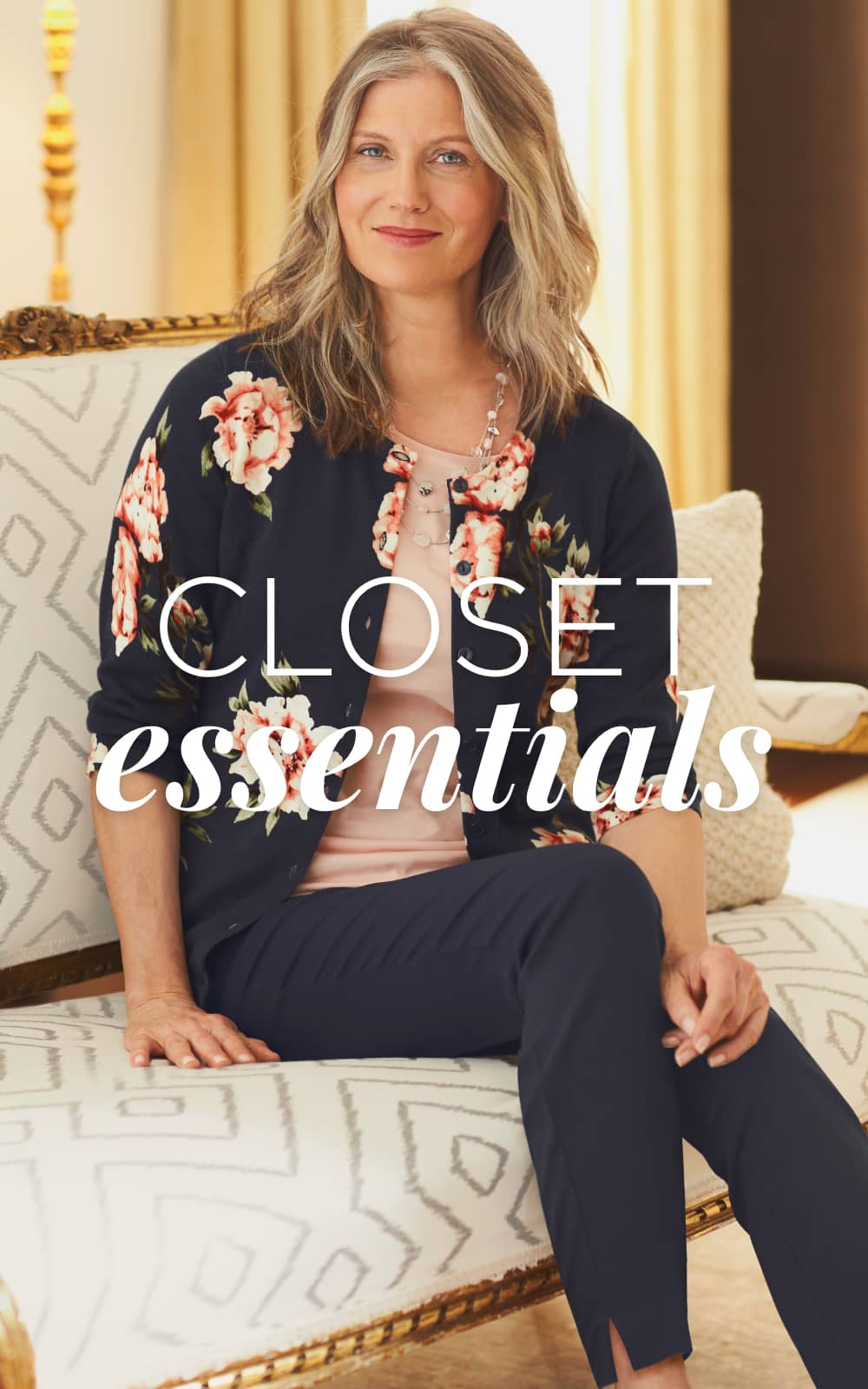 Closet Essentials. Our Perfect Navy Floral Cardigan Sweater and Perfect Navy Floral Cardigan Sweater