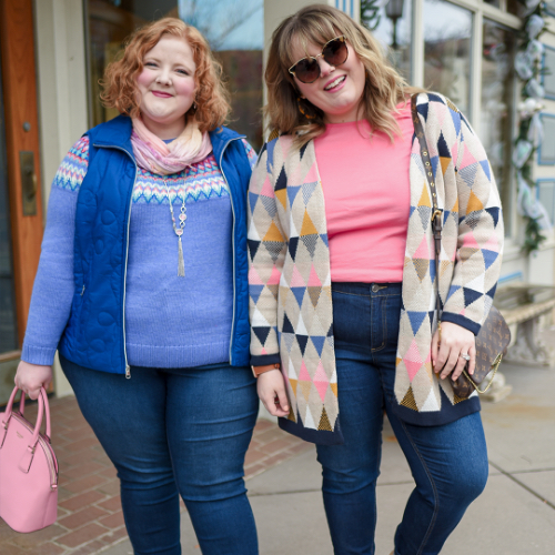 """A Christopher & Banks blogger, """"With Wonder and Whimsy"""", wearing a Solid Swirl Quilted Vest."""