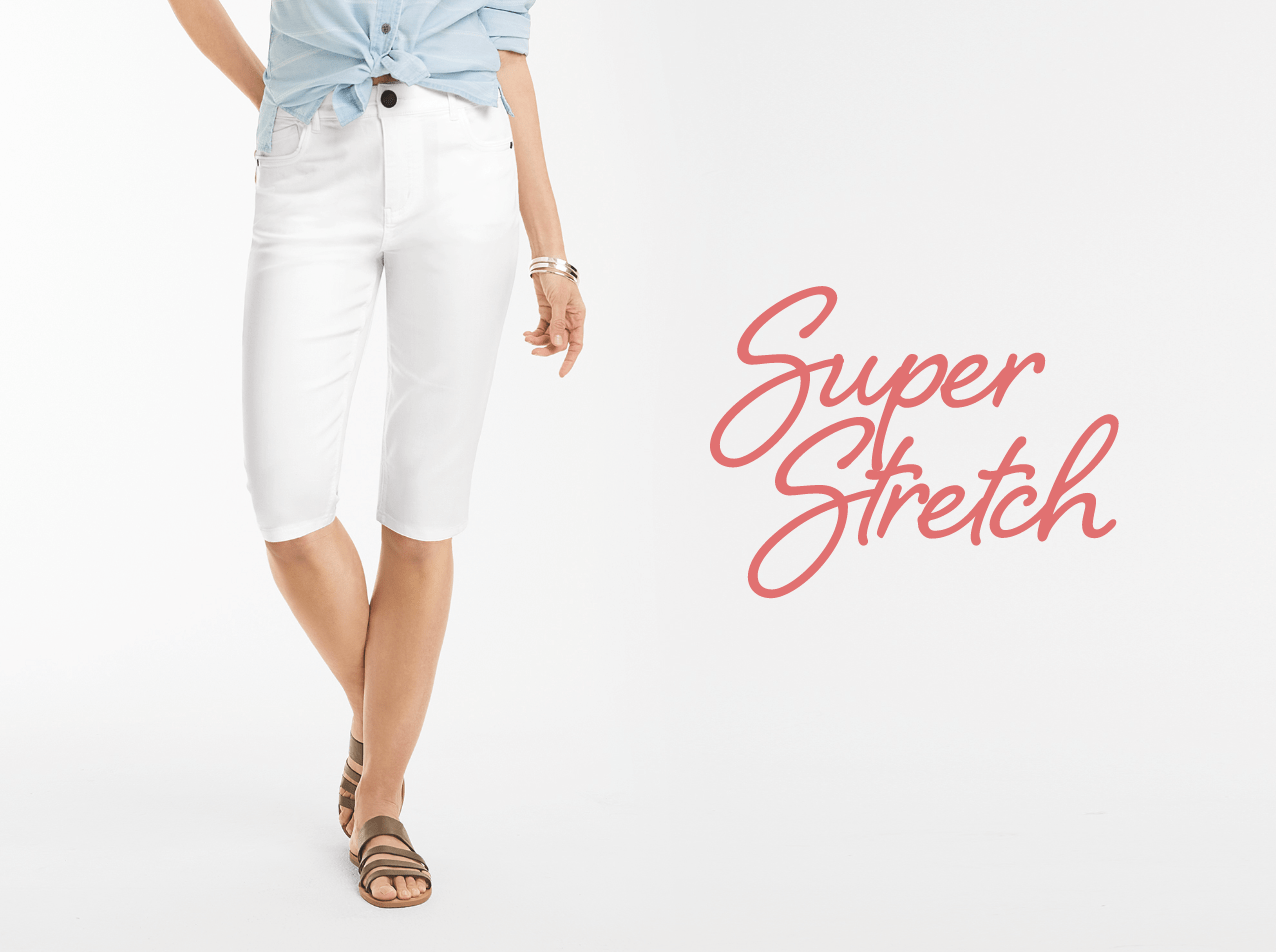 Crop Shop: Super Stretch.