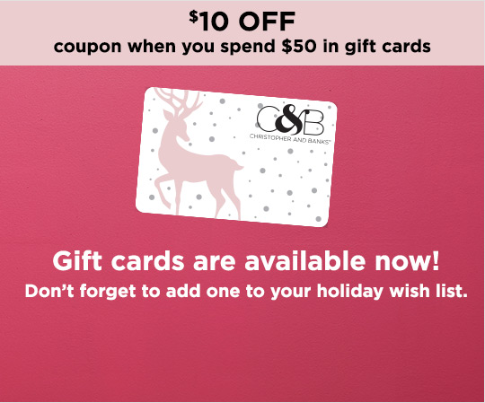 Gift Cards Are Available for Purchase Online! Don't Forget to Add One to Your Own Holiday Wish List.