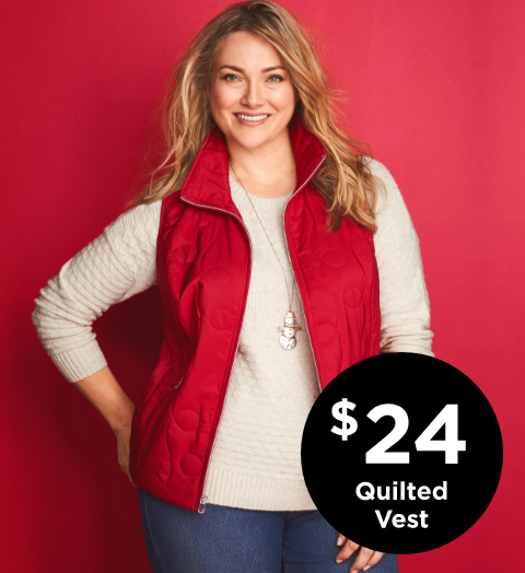 $24 Quilted Vests