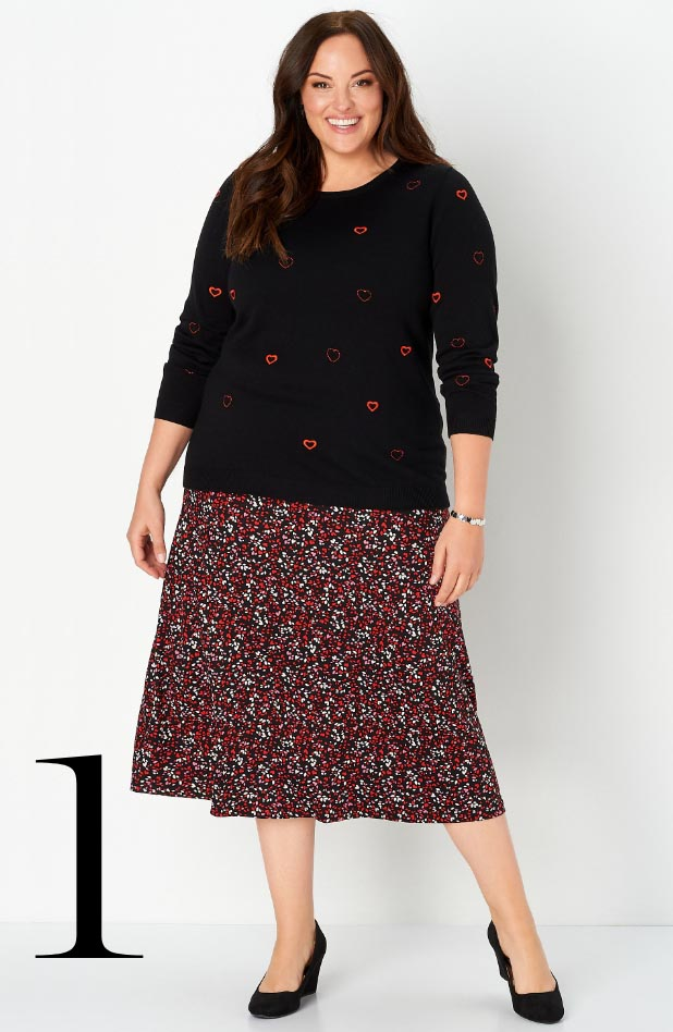 Missy/Women Collections - Ways-to-Wear, January: #04 Mini Hearts Skirt, 01